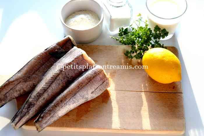 ingrédients merlus frits