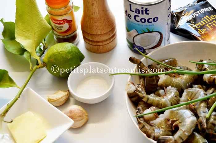 ingredients-pour-timbales-de-crevettes-aux-epices-et-lait-de-coco