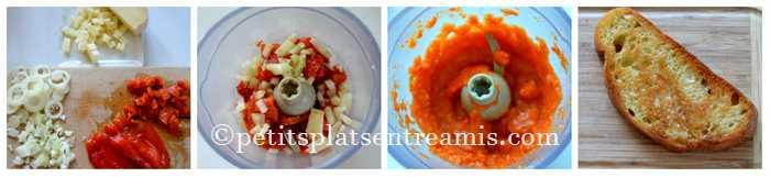 préparation compotée poivrons oignons