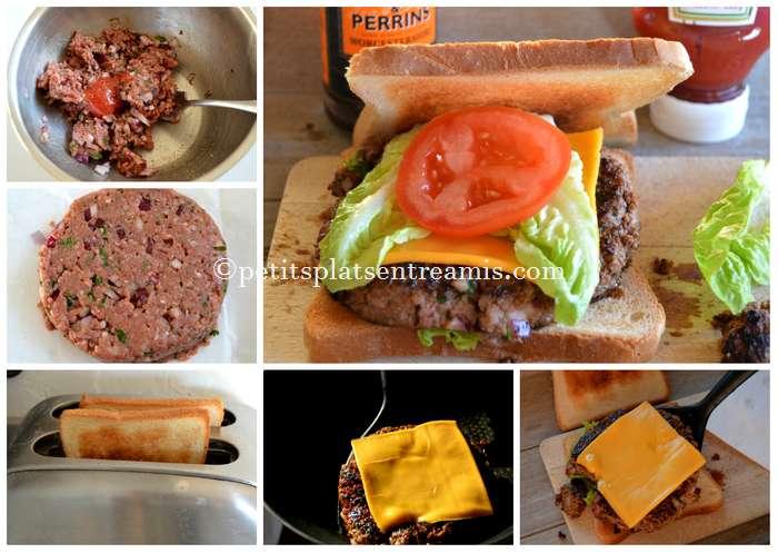 préparation steak haché façon burger