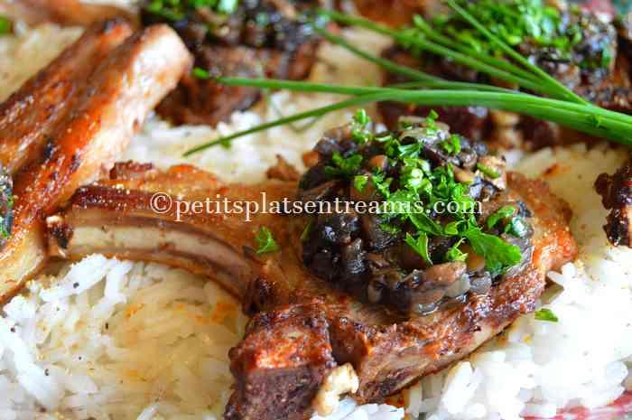 recette-cotes-dagneau-aux-champignons