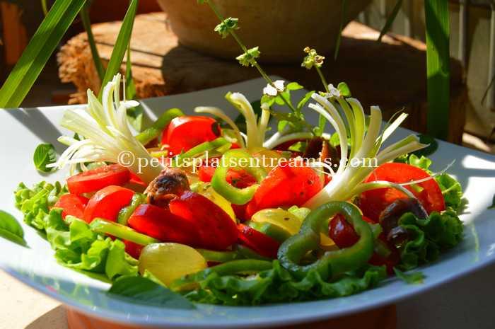 salade-de-tomates-et-poivrons-recette