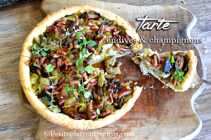 tarte-endives-et-champignons