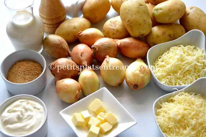 ingredients-pour-gratin-de-pommes-de-terre-aux-oignons