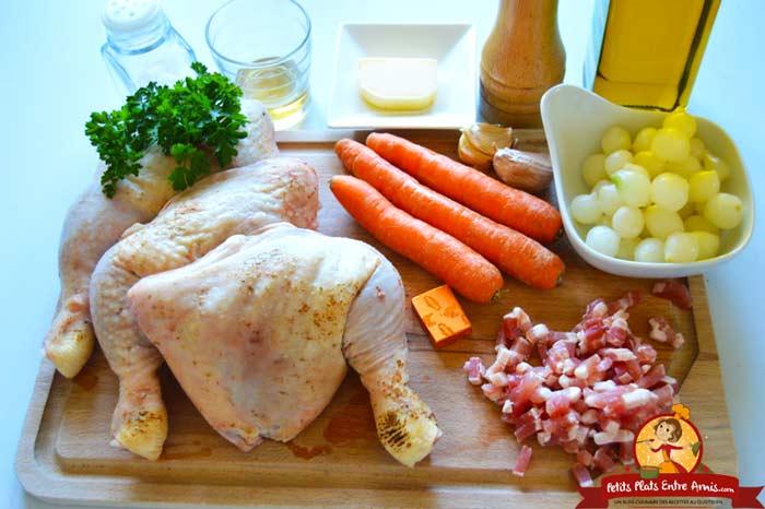 ingredients-pour-poulet-saute-aux-petits-oignons