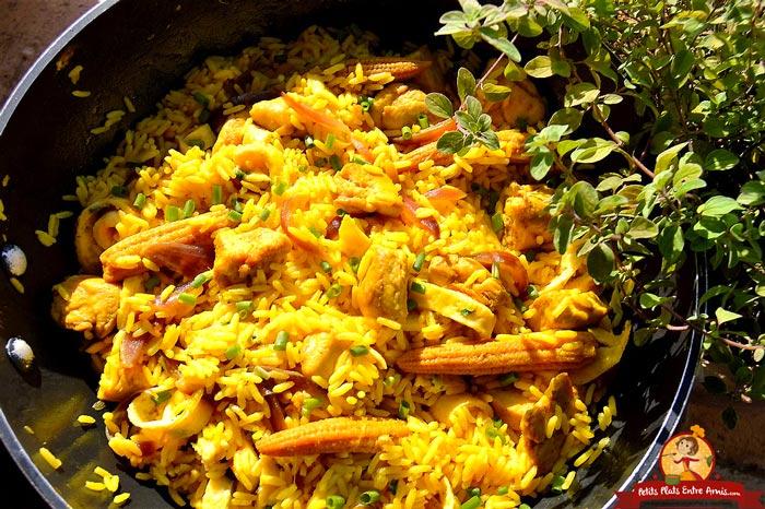 riz-safrane-au-poulet-recette