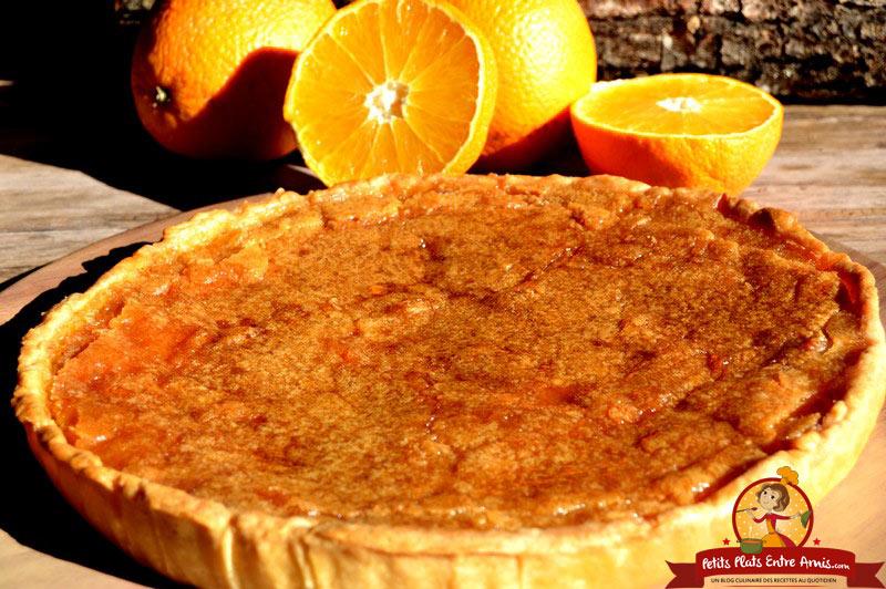 tarte-a-la-cassonade-et-a-lorange-recette