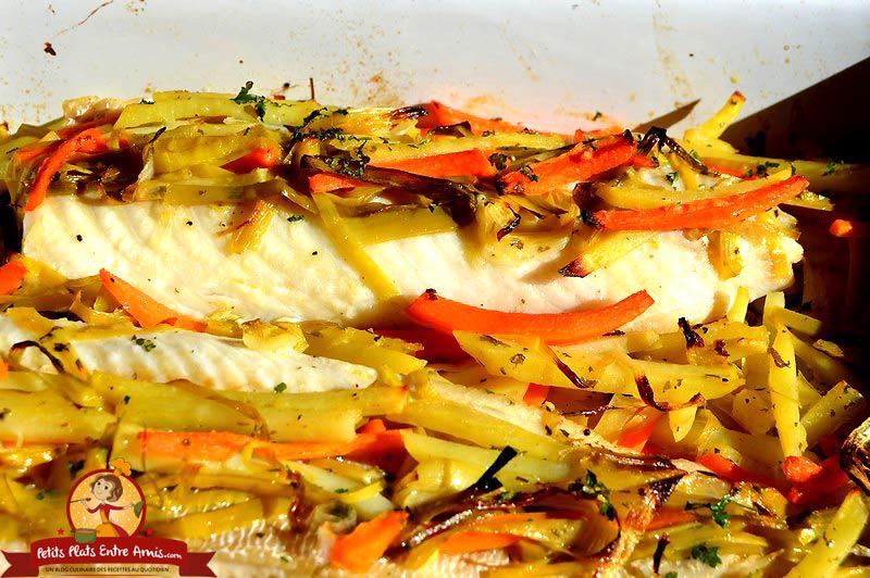Recette de filet de julienne aux petits l gumes petits - Cuisiner filet de julienne ...