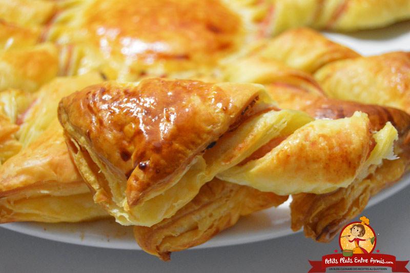 Tarte soleil jambon et fromage petits plats entre amis - Tarte soleil jambon cru ...