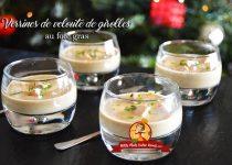 Verrines de velouté de girolles au foie gras