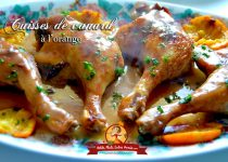Recette des cuisses de canard l 39 orange petits plats - Recette de cuisse de canard ...