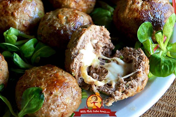 Recette des boulettes de boeuf au fromage petits plats - Comment cuisiner des boulettes de boeuf ...