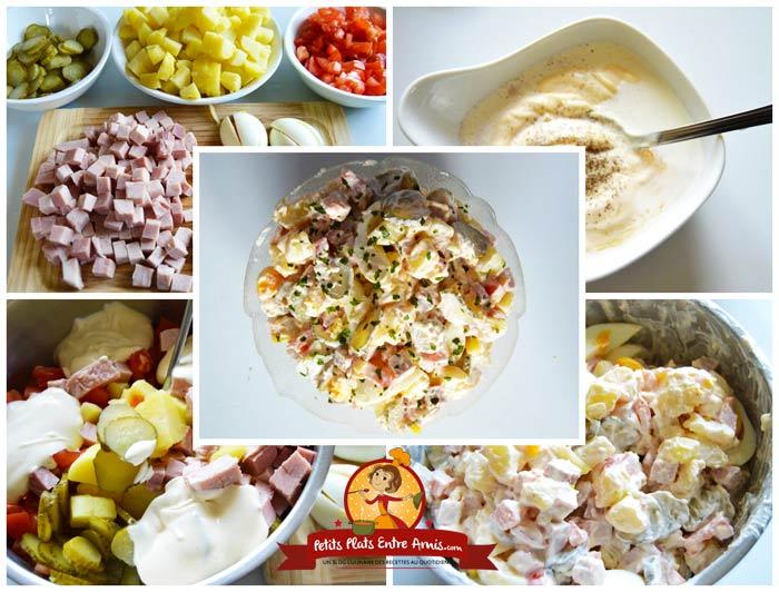 Recette de la salade pi montaise petits plats entre amis for Petit plat entre amis