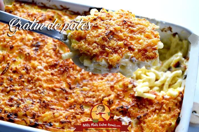 Recette de gratin de p tes petits plats entre amis for Plat repas entre amis
