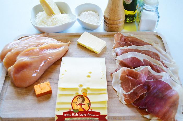 Recette Des Escalopes De Poulet Au Jambon Et Au Fromage Petits