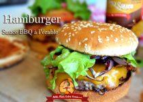 Hamburger à la sauce BBQ à l'érable