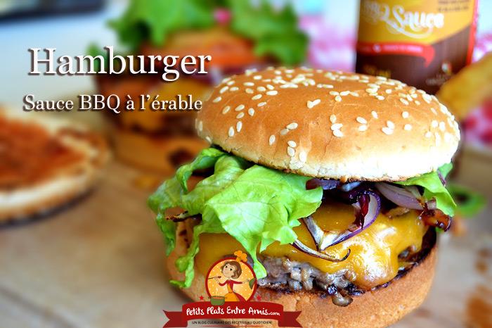 hamburger la sauce bbq l 39 rable petits plats entre amis. Black Bedroom Furniture Sets. Home Design Ideas