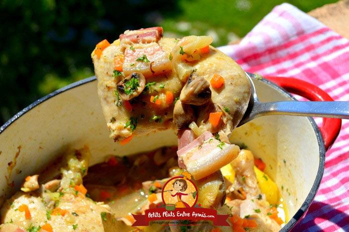 Recette de poulet la paysanne petits plats entre amis for Plat a partager entre amis