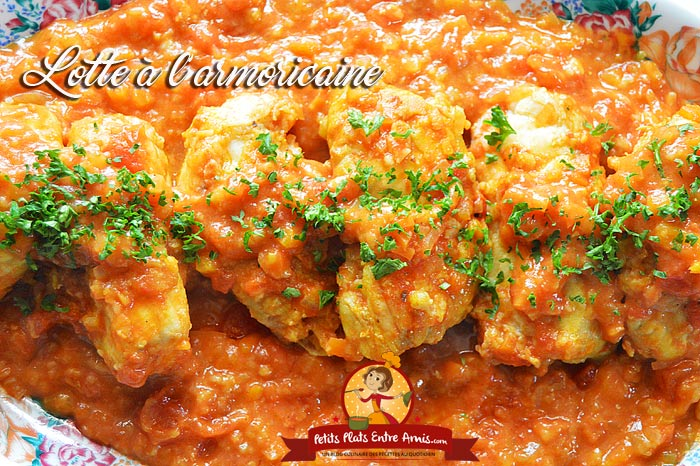 Recette de la lotte l 39 armoricaine petits plats entre amis - Lotte a l armoricaine recette cuisine ...