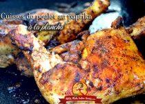Cuisses de poulet au paprika à la plancha