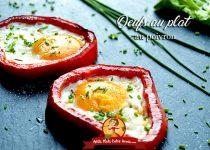 Oeufs au plat au poivron