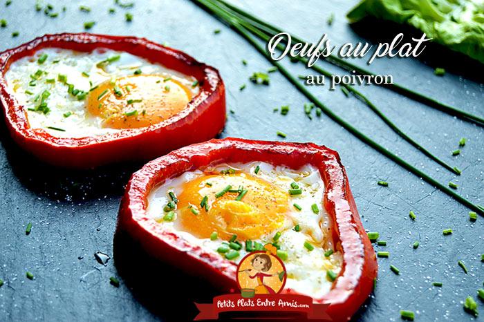 Recette d 39 oeufs au plat au poivron petits plats entre amis for Plat original entre amis