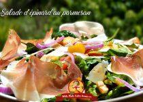 Salade d'épinards au parmesan