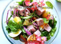 Salade au jambon et St-Nectaire