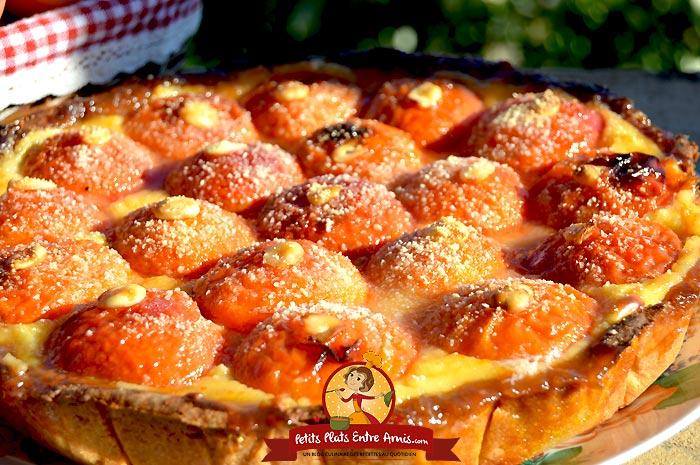 Tarte aux abricots petits plats entre amis - Recette de tarte aux abricots ...