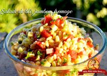 Salade de blé, jambon, fromage