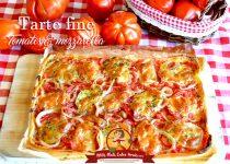 Tarte fine tomates et mozzarella