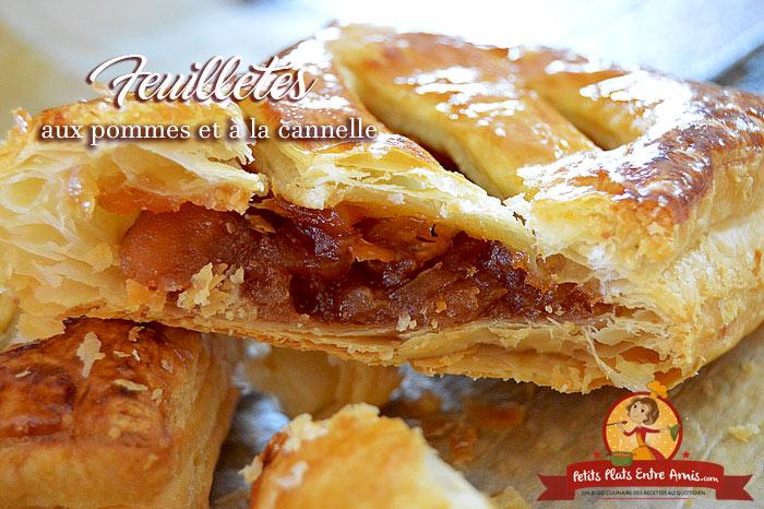 Feuillet s aux pommes et la cannelle petits plats entre amis - Feuillete aux pommes caramelisees ...