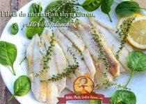 Filets de merlan au thym citron, grillés à la plancha