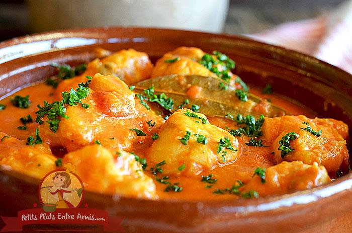 Lotte l 39 armoricaine version bisque de homard petits plats entre amis - Lotte a l armoricaine recette cuisine ...