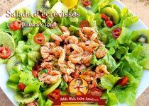 Salade d'écrevisses sucrée salée