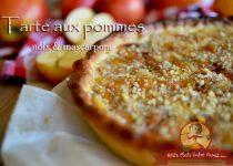 Tarte aux pommes, noix et mascarpone