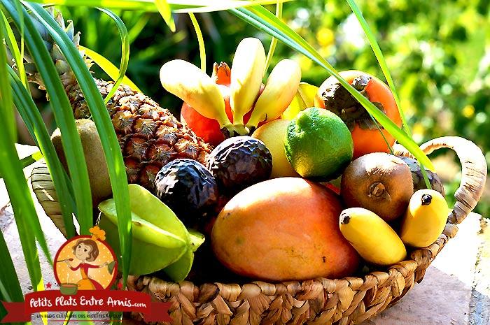 Salade de fruits exotiques petits plats entre amis - Image fruit exotique ...