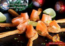 Feuilletés de saumon en amuse-bouches