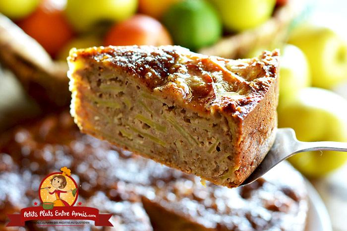 G teau aux pommes et aux noix petits plats entre amis - Gateau aux noix et pommes ...