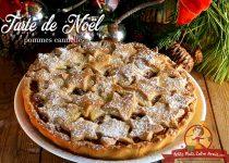 Tarte de Noël pommes cannelle