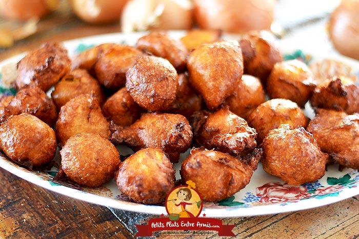 Beignets souffl s aux oignons petits plats entre amis - La ferme aux beignets ...