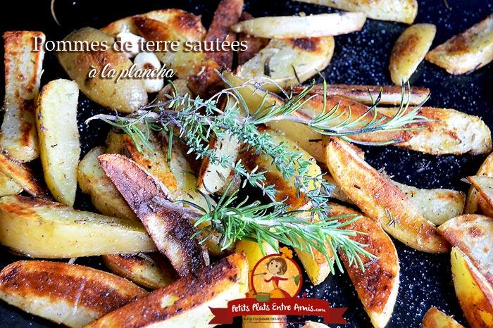 Pommes de terre saut es la plancha petits plats entre amis - Repas plancha entre amis ...