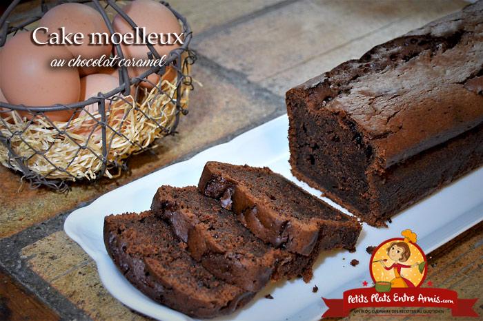 Cake moelleux au chocolat caramel
