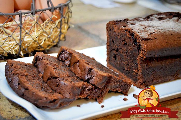 Recette de cake moelleux au chocolat