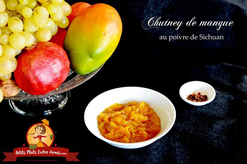Chutney de mangue au poivre de Sichuan