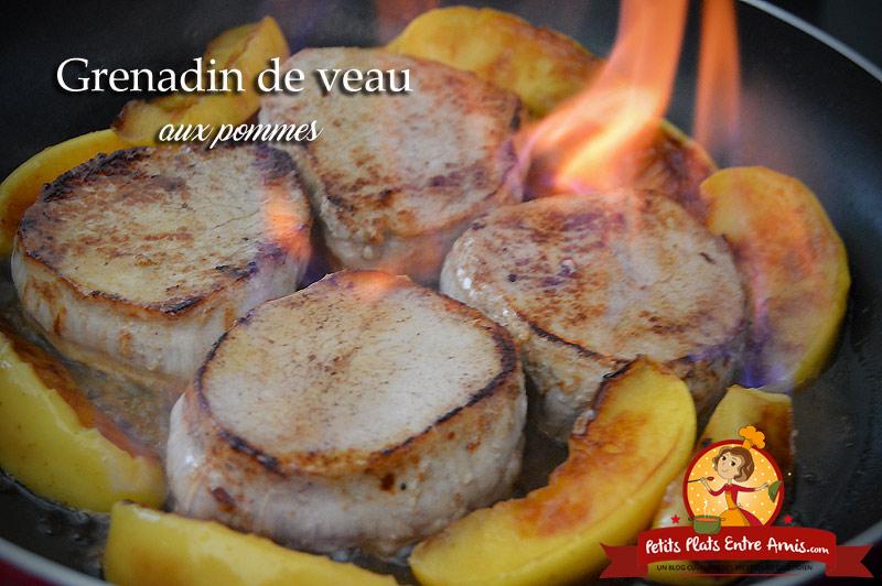 Grenadin de veau aux pommes