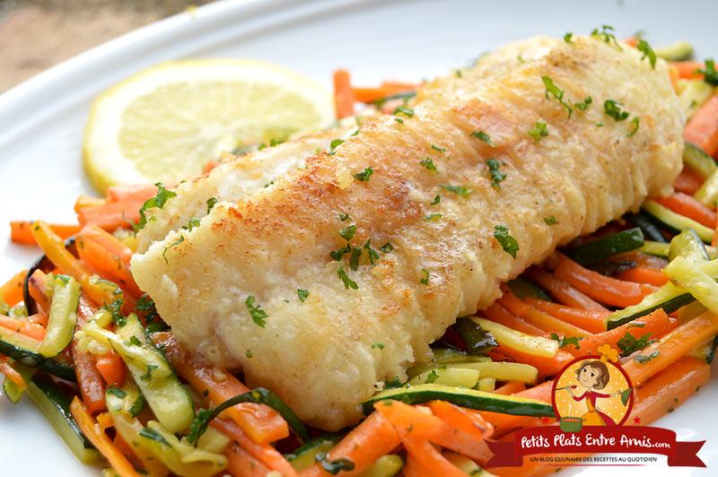 Recette de Filet de poisson et julienne de légumes