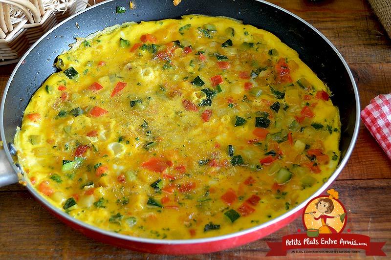 Recette d'omelette aux légumes