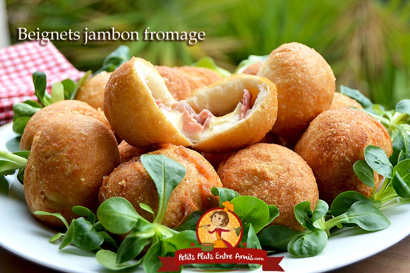 Beignets jambon fromage