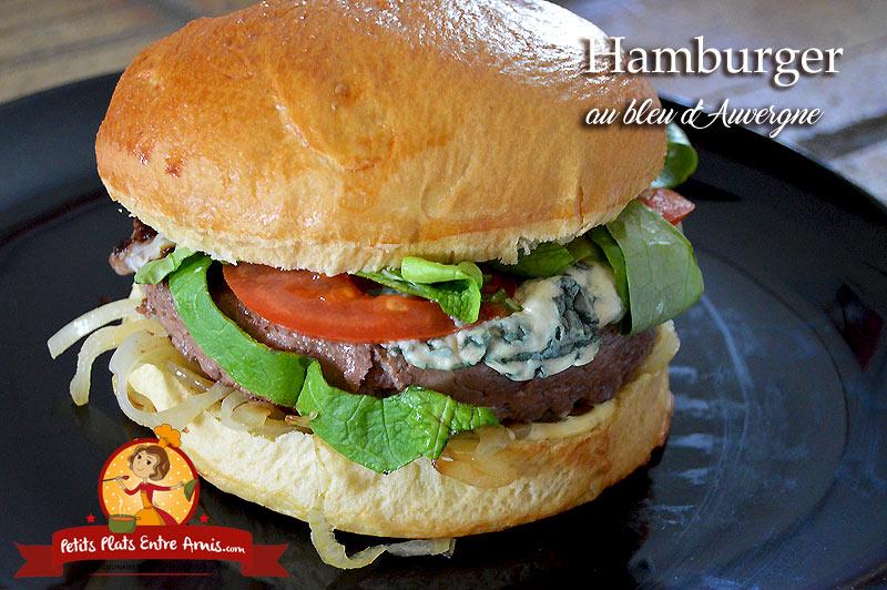Hamburger au bleu d'Auvergne